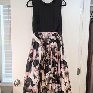 SL Fashions floral high low dress